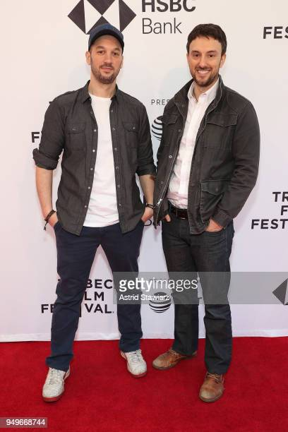 Directors Jeff Zimbalist and Michael Zimbalist attend a screening for Momentum Generation during te 2018 Tribeca Film Festival at SVA Theatre on...