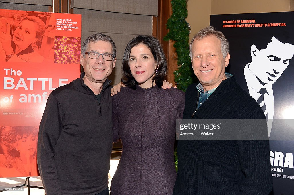 Directors Jeffrey Friedman, Alexandra Pelosi and Rob Epstein attend the 'Fall To Grace' and 'The Battle Of AMFAR' Brunch hosted by HBO on January 18, 2013 in Park City, Utah.