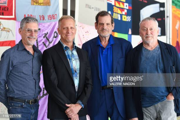 Directors Jeffrey Friedman Rob Epstein executive producer Howard Rosenman and producer Bill Couturie attend Common Threads Stories from The Quilt...