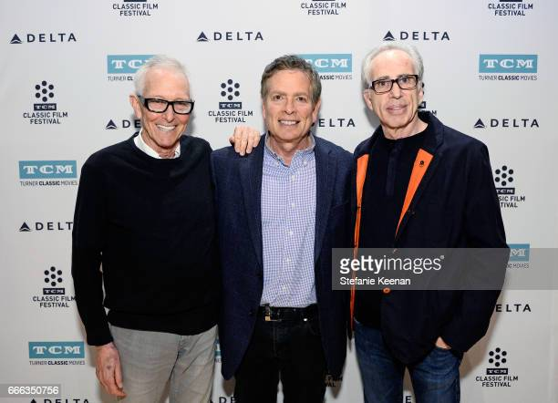 Directors Jim Abrahams and David Zucker and producer Jerry Zucker at the screening of 'The Kentucky Fried Movie' during the 2017 TCM Classic Film...