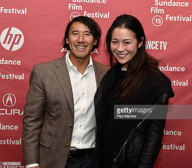 Directors Jimmy Chin and E Chai Vasarhelyi attend the Meru premiere during the 2015 Sundance Film Festival during the 2015 Sundance Film Festival on...