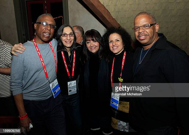 Directors Joe Brewster and Miriam Cutler BMI Executive Doreen RingerRoss director Michele Stephenson and composer Terence Blanchard attend the BMI...