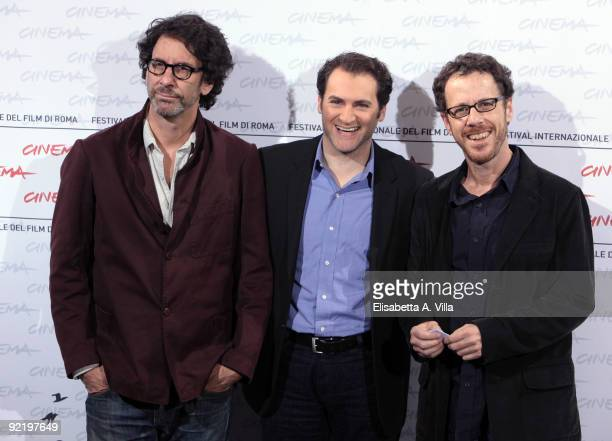 Directors Joel Coen and Ethan Coen and Michael Stuhlbarg attend the 'A Serious Man' Photocall during Day 8 of the 4th International Rome Film...