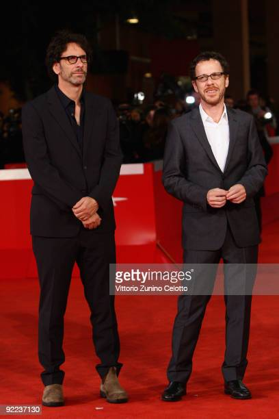 Directors Joel Coen and Ethan Coen attend the A Serious Man Premiere during Day 8 of the 4th International Rome Film Festival held at the Auditorium...