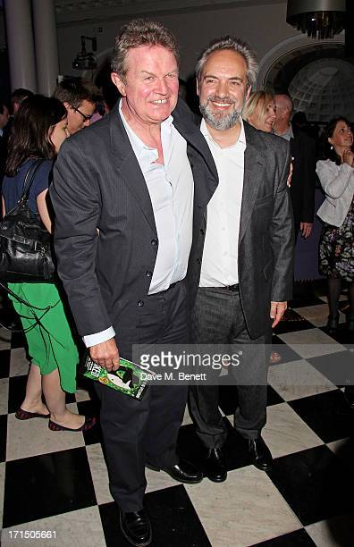 Directors John Madden and Sam Mendes attend an after party celebrating the press night performance of 'Charlie And The Chocolate Factory' at The...