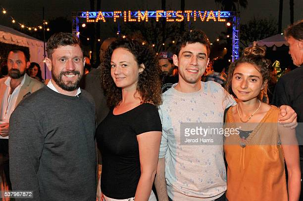 Directors Jonah Markowitz Tracy Wares Jeremy Teicher and Alexi Pappas attend the Filmmaker Reception during the 2016 Los Angeles Film Festival on...