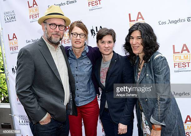 Directors Jonathan Dayton Valerie Faris Kimberly Peirce and Debra Granik attend Coffee Talks during the 2014 Los Angeles Film Festival at Luxe City...