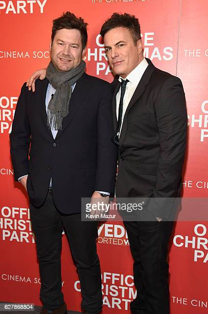 Directors Josh Gordon and Will Speck attend the Paramount Pictures with The Cinema Society Svedka host a screening of 'Office Christmas Party' at...