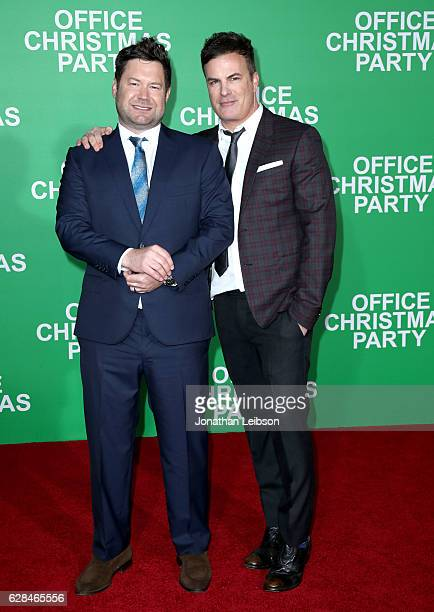 Directors Josh Gordon and Will Speck attend the LA Premiere of Paramount Pictures Office Christmas Party at Regency Village Theatre on December 7...