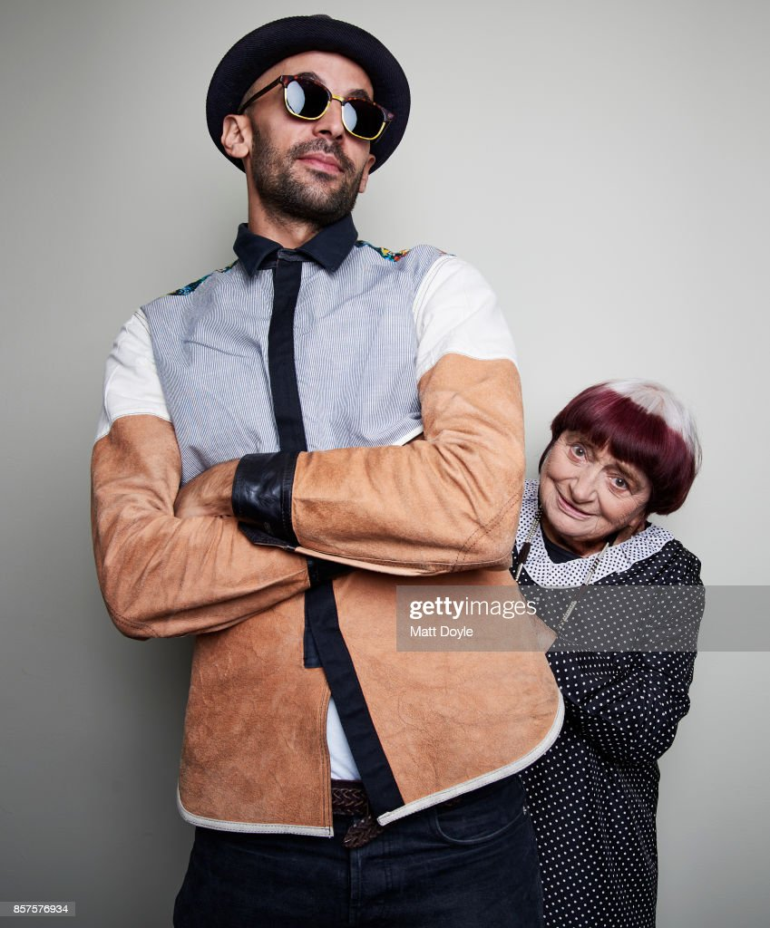 Directors JR and Agnès Varda from the film 'Faces Places' poses for a portrait at the 55th New York Film Festival on October 1, 2017.
