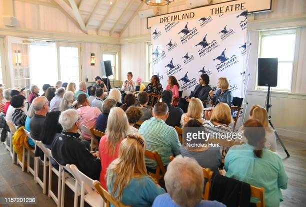 Directors Julia Reichert Lisa Cortes Irene Taylor Brodsky AJ Eaton and Reporter Kathleen Matthews speak onstage during Morning Coffee at the 2019...