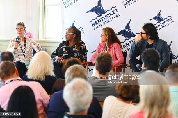Directors Julia Reichert Lisa Cortes Irene Taylor Brodsky and AJ Eaton speak onstage during Morning Coffee at the 2019 Nantucket Film Festival Day...