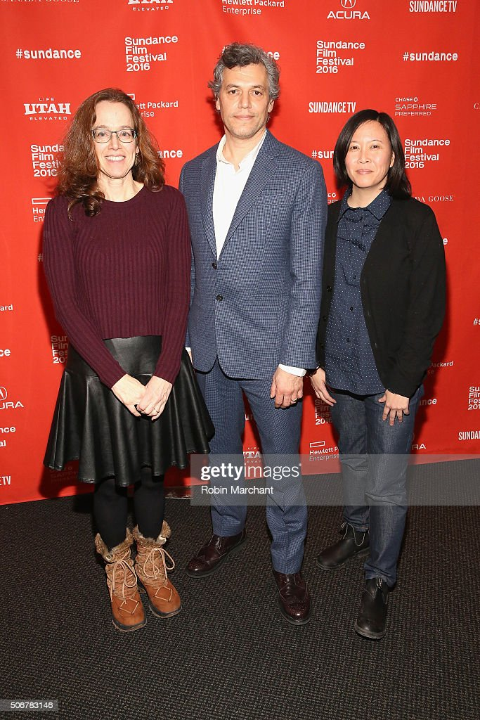 Directors Julie Zammarchi, Jason Benjamin, and Sundance Film Festival Senior Programmer Kim Yutani attend the 'Suited' Premiere during the 2016 Sundance Film Festival at Temple Theater on January 25, 2016 in Park City, Utah.