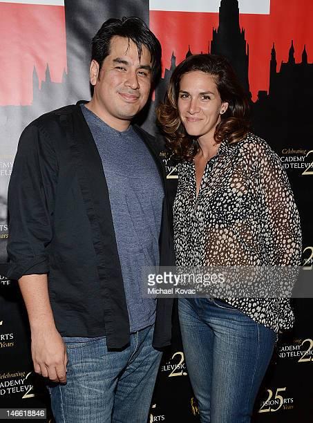Directors Julio Ramos and Vanessa Knutsen attend the BAFTA LA Student Film Awards at Los Angeles Film School on June 20 2012 in Los Angeles California