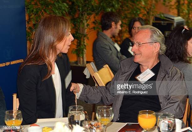 Directors Kathryn Bigelow and Michael Mann attend the 65th Annual Directors Guild of America Awards President's Breakfast held at the DGA on February...
