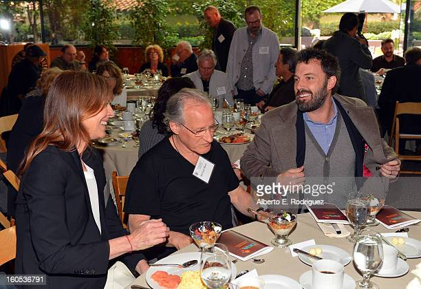 Directors Kathryn Bigelow Michael Mann and Ben Affleck attend the 65th Annual Directors Guild of America Awards President's Breakfast held at the DGA...