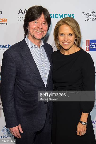"""Directors Ken Burns and SU2C Co-Founder Katie Couric attend the """"Cancer: The Emperor of All Maladies"""" New York Screening at Jazz at Lincoln Center on..."""