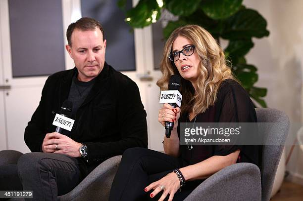 Directors Kirk DeMicco and Jennifer Lee attend Variety Awards Studio Day 2 at the Leica Gallery and Store on November 21 2013 in West Hollywood...