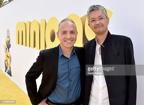 Directors Kyle Balda and Pierre Coffin arrive at the premiere of Universal Pictures and Illumination Entertainment's 'Minions' at the Shrine...