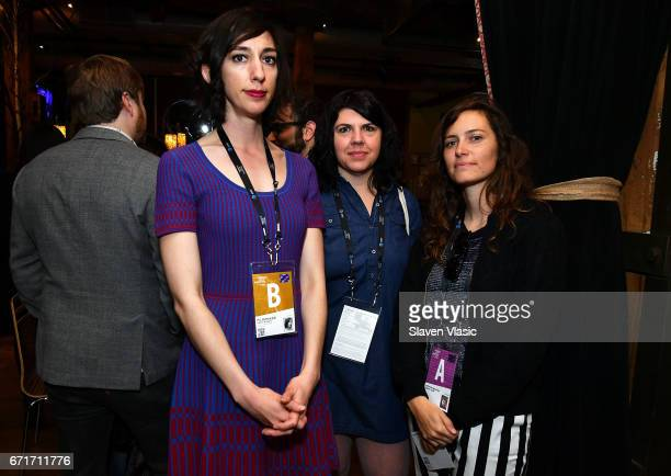 Directors Lana Wilson Lauren Cloffi and guest attend Director's Brunch at 2017 Tribeca Film Festival at City Winery on April 22 2017 in New York City