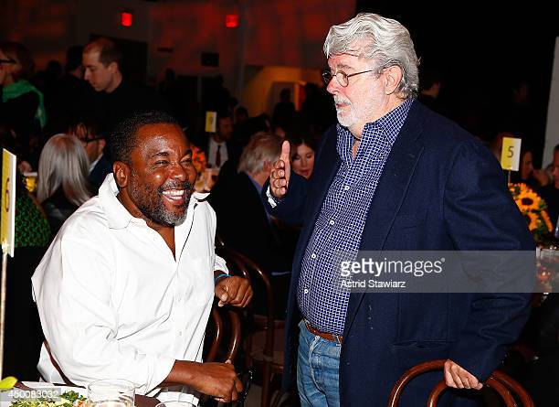 Directors Lee Daniels and George Lucas attend the Sundance Institute Vanguard Leadership Award honoring Glenn Close at Stage 37 on June 4 2014 in New...