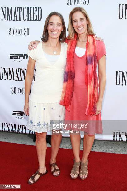 """Directors Lisa Lax and Nancy Stern Winters attend the premiere of """"Unmatched"""" at Tribeca Cinemas on August 26, 2010 in New York City."""