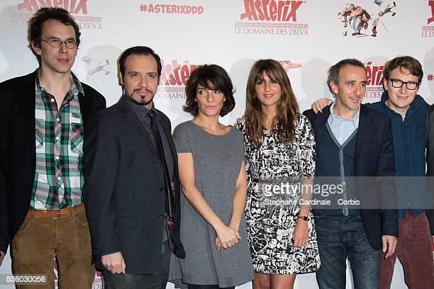 Directors Louis Clichy Alexandre Astier Florence Foresti Geraldine Nakache Elie Semoun and Lorant Deutsch attend the 'Asterix Le Domaine des Dieux'...