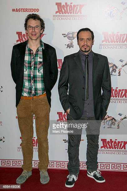 Directors Louis Clichy and Alexandre Astier attend the 'Asterix Le Domaine des Dieux' Premiere at Le Grand Rex on November 23 2014 in Paris France