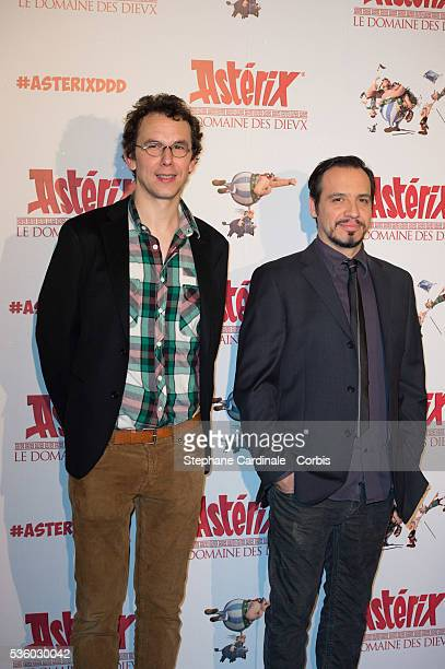 Directors Louis Clichy and Alexandre Astier attend the 'Asterix Le Domaine des Dieux' Premiere at Le Grand Rex on November 23 2014 in Paris France