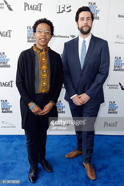 Directors Lyric R Cabral and David Felix Sutcliffe attend the 2016 Film Independent Spirit Awards on February 27 2016 in Santa Monica California