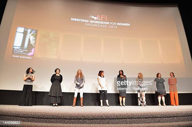 Directors Mako Kamitsuna, Wenwha Ts'ao, Denise Plumb, Trisha Gum, Anika Poitier, Bridget Palardy, Jane Pickett and Kit Pongetti attend the 2012 AFI...