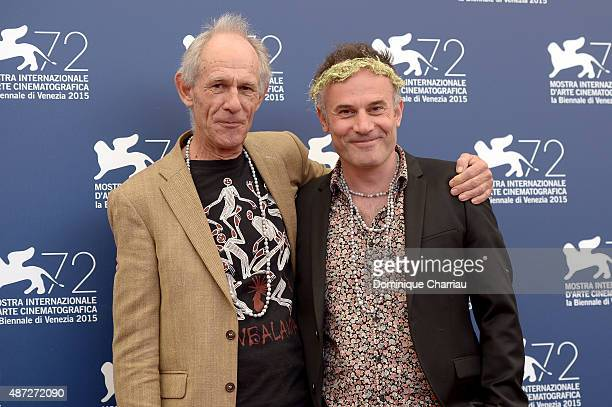 Directors Martin Butler and Bentley Dean attend a photocall for 'Tanna' during the 72nd Venice Film Festival at on September 8 2015 in Venice Italy