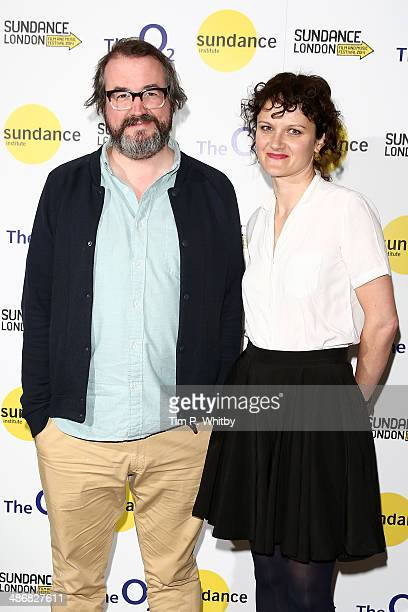 Directors Martin Clark and Cara Connolly attend the Shorts Programme photo call during the Sundance London Film and Music Festival 2014 at 02 Arena...
