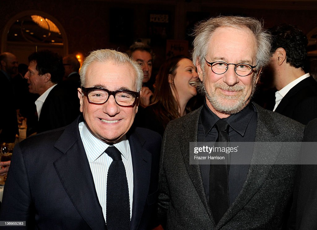 Directors Martin Scorsese (L) and Steven Spielberg attend the 12th Annual AFI Awards held at the Four Seasons Hotel Los Angeles at Beverly Hills on January 13, 2012 in Beverly Hills, California.