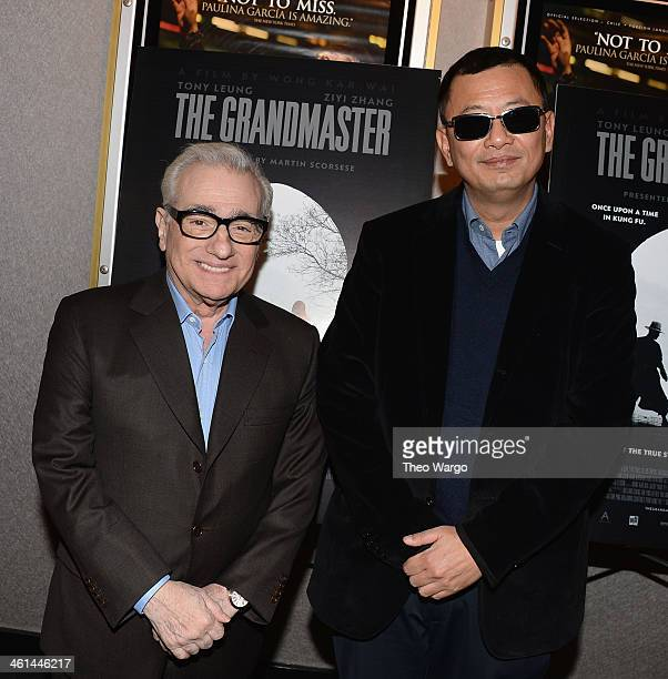 Directors Martin Scorsese and Wong Kar Wai attend a QA And Reception In Honor Of Director Wong Kar Wai And His Film 'Martin Scorsese Presents THE...