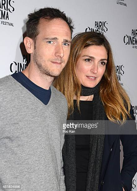 Directors Mathieu Busson and Julie Gayet attend the screening of 'Cineasts' on day 3 of Festival Paris Cinema 2014 at Gaumont Opera Capucines on July...