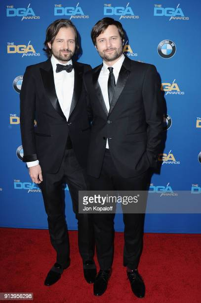 Directors Matt Duffer and Ross Duffer attend the 70th Annual Directors Guild Of America Awards at The Beverly Hilton Hotel on February 3 2018 in...