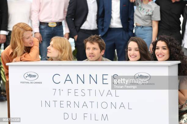 Directors Melanie Thierry Clemence Poesy Pierre Deladonchamps Charlotte Le Bon and Sabrina Ouazani attend the photocall for Talents Adami 2018 during...
