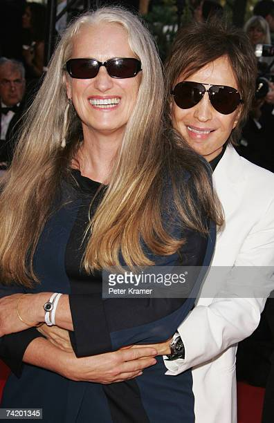 Directors Michael Cimino and Jane Campion attend the premiere for the film Chacun Son Cinema at the Palais des Festivals during the 60th...
