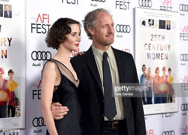 Directors Miranda July and Mike Mills attend a tribute to Annette Bening and gala screening of A24's 20th Century Women at AFI Fest 2016 presented by...