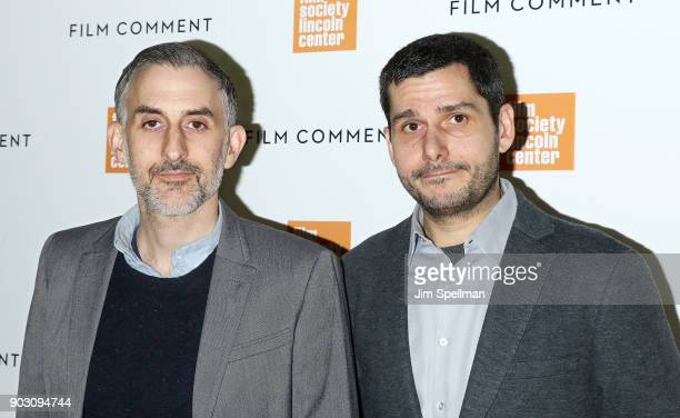 Directors Myles Kane and Josh Koury attend the 2018 Film Society of Lincoln Center and Film Comment luncheon at Lincoln Ristorante on January 9 2018...