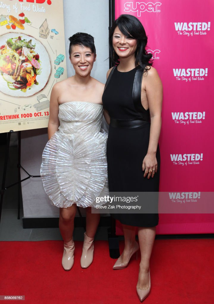Directors Nari Kye and Anna Chai attend 'Wasted! The Story Of Food Waste' New York Premiere at Alamo Drafthouse Cinema on October 5, 2017 in the Brooklyn borough of New York City.
