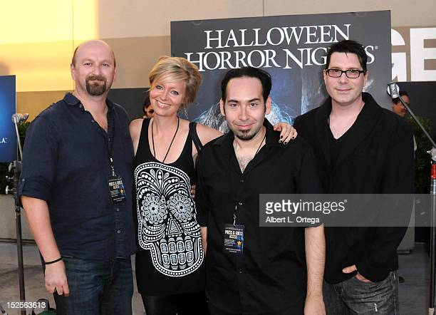"""Directors Neil Marshall, Axelle Caolyn, Mike Mendez and Dave Parker arrive for Universal Studios Hollywood """"Halloween Horror Night"""" and Eye Gore..."""