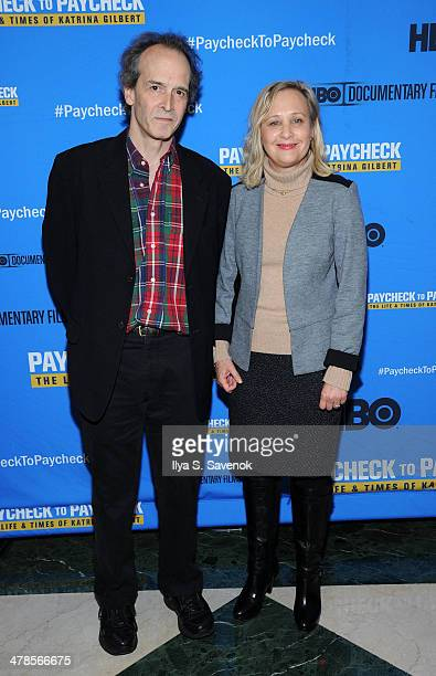 """Directors Nick Doob and Shari Cookson attend """"Paycheck To Paycheck: The Life And Times Of Katrina Gilbert"""" New York Premiere at HBO Theater on March..."""
