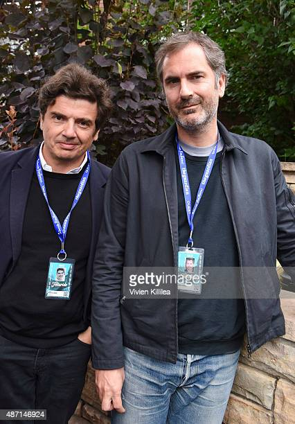 Directors Nicolas Saada and Xavier Giannoli attend the 2015 Telluride Film Festival on September 6 2015 in Telluride Colorado
