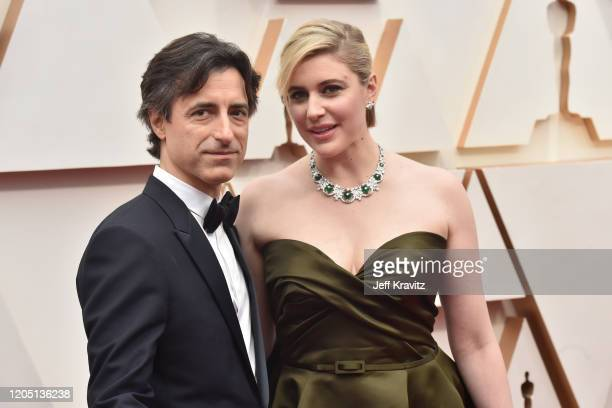 Directors Noah Baumbach and Greta Gerwig attend the 92nd Annual Academy Awards at Hollywood and Highland on February 09 2020 in Hollywood California