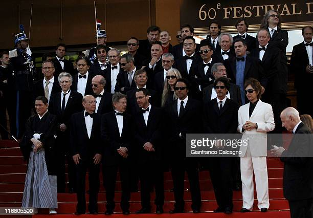 Directors of 'Chacun Son Cinema' during 2007 Cannes Film Festival 'Chacun Son Cinema' All Directors Premiere at Palais des Festivals in Cannes France