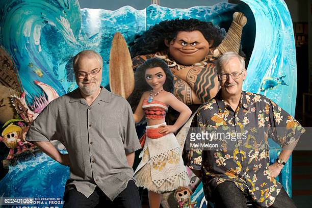 """Directors of Disney's animated movie, """"Moana, """"John Musker, Ron Clements are photographed for Los Angeles Times on October 10, 2016 in Los Angeles,..."""