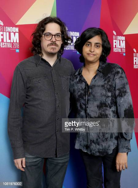 Directors Oriol Cabral and Natalia Estrada attend a screening of Miriam Lies at the 62nd BFI London Film Festival on October 12 2018 in London England
