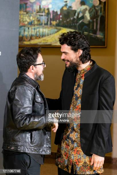 Directors Paco Plaza and Oliver Laxe attend the Mestre Mateo Awards in A Coruna on March 07 2020 in A Coruna Spain